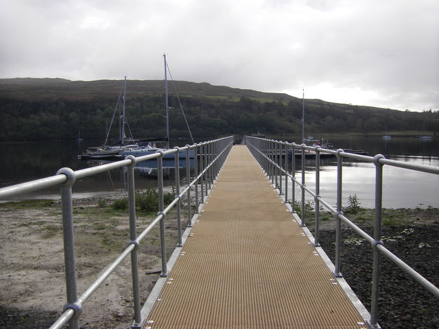 Pier leading to pontoon, Loch Aline