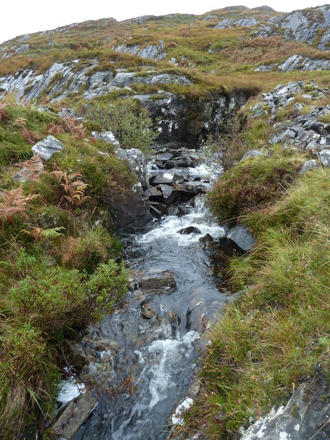 Burn on the flanks of Meall Garbh