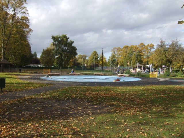 Paddling pool in the park