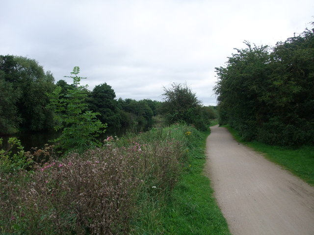 National Cycle Route 6 alongside the River Derwent