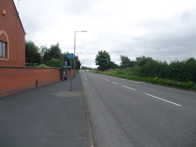 The A6005 leaving Borrowash