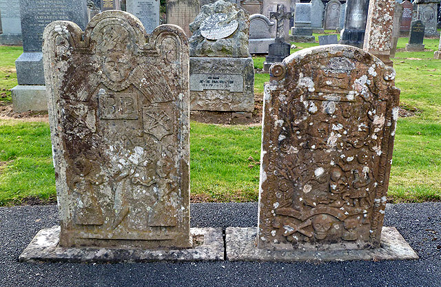 Adam and Eve gravestones in Little Dunkeld Parish Church