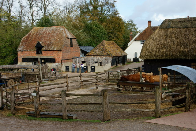 Farm Visit >> Manor Farm, Botley, Hampshire © Peter Trimming :: Geograph Britain and Ireland