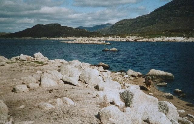 Low water , Loch Cluanie