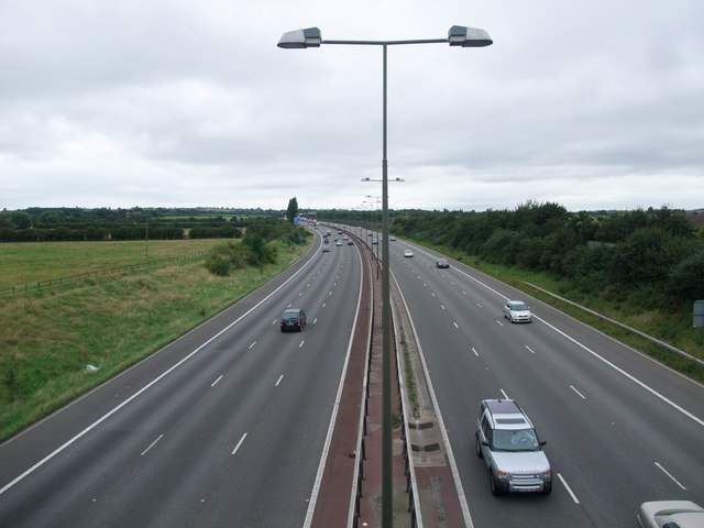 M1 north from the A6005