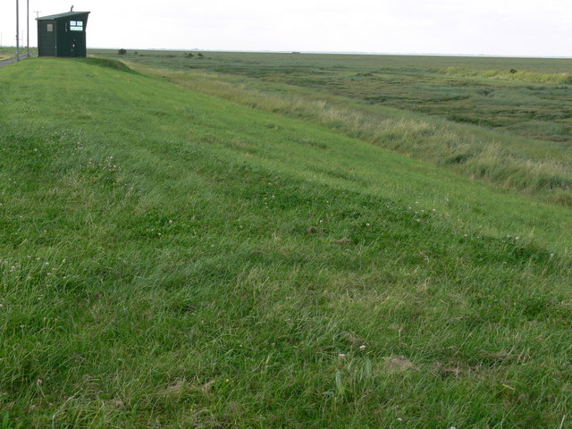 Observation tower on the sea bank