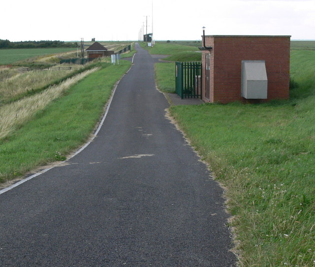 Road at the RAF Holbeach bombing range