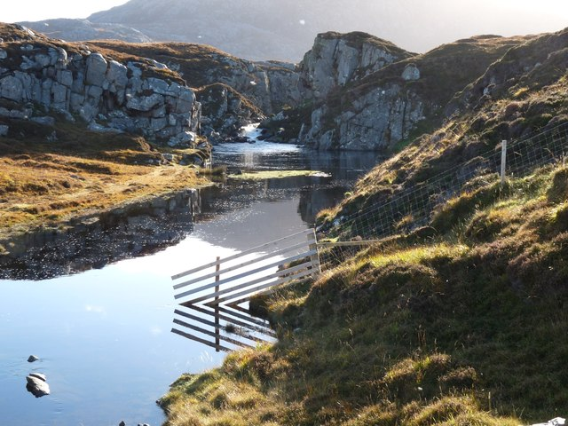 Salmon pool near Timsgarry