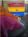 NT6779 : Coastal East Lothian : Fishnets and Boxes at Victoria Harbour, Dunbar : Week 43