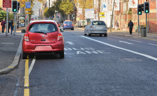 Bus lane, May Street, Belfast