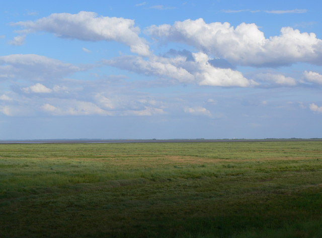 View across the salt marshes