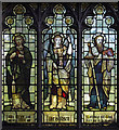 TQ3182 : St Mark, Myddelton Square, Clerkenwell - Stained glass window by John Salmon