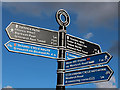 TQ4079 : Thames Path Sign by Oast House Archive