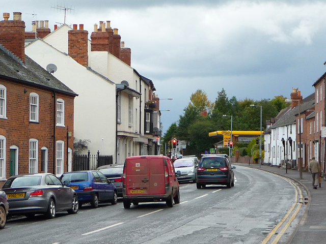 The A438 leaving Ledbury