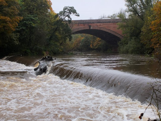 Weir on the River Kelvin