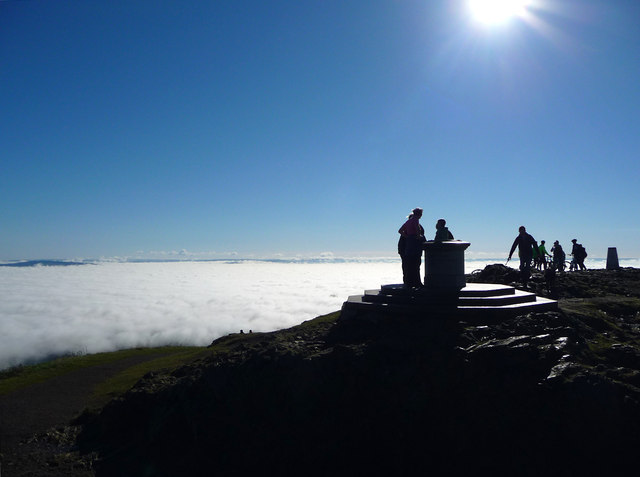Above the clouds on the Worcestershire Beacon