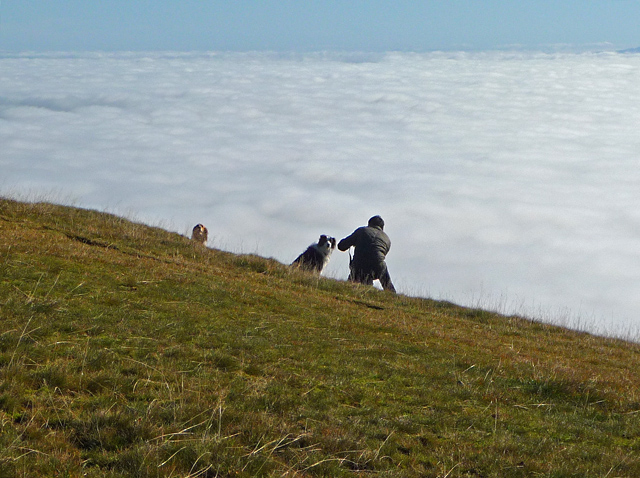 Above the clouds on North Hill