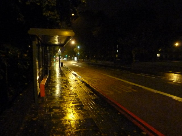 Lee: bus stop on the Eltham Road