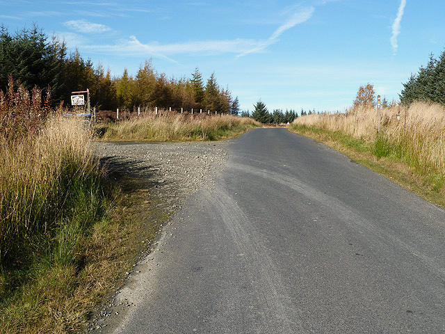 The Woll Rig road near Ashkirk