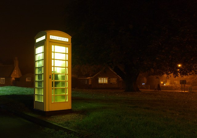 Phone Box next to Sproatley Green