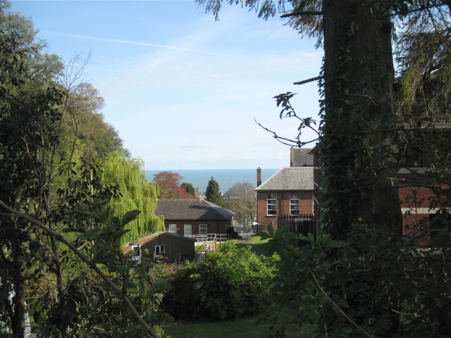 Trinity School, grounds and sea view