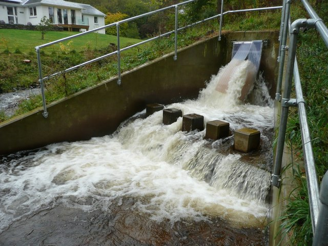 Dowally Hydro-Electric Scheme - in operation