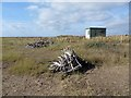 TF5657 : Shorebird Warden's Hut, Gibraltar Point by Oliver Dixon