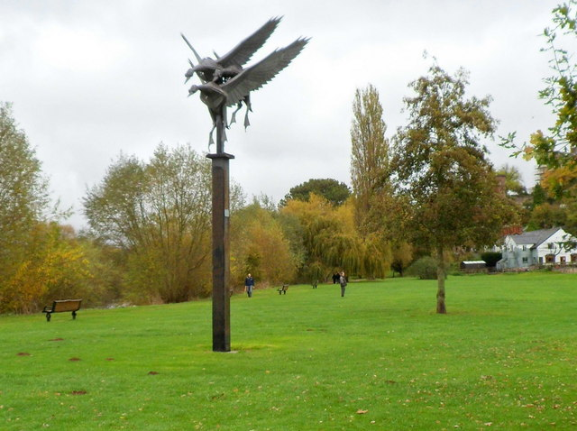 Mallards sculpture, Ross-on-Wye