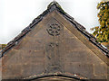 NY8773 : St Mungo's Church Lychgate detail by David Dixon
