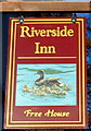SO5924 : Riverside Inn name sign, Ross-on-Wye by John Grayson