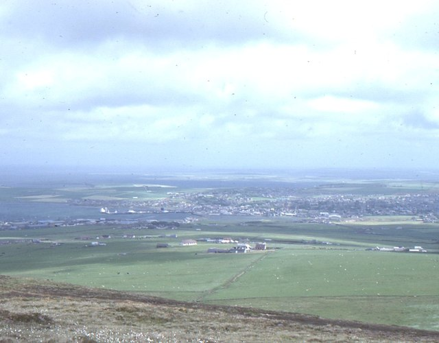 Wideford Hill: view east to Kirkwall