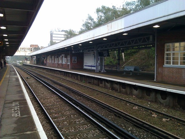 Swanley Station, looking east towards the footbridge