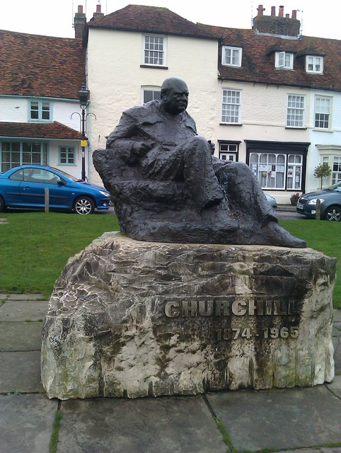 Statue of Sir Winston Churchill on the green at Westerham
