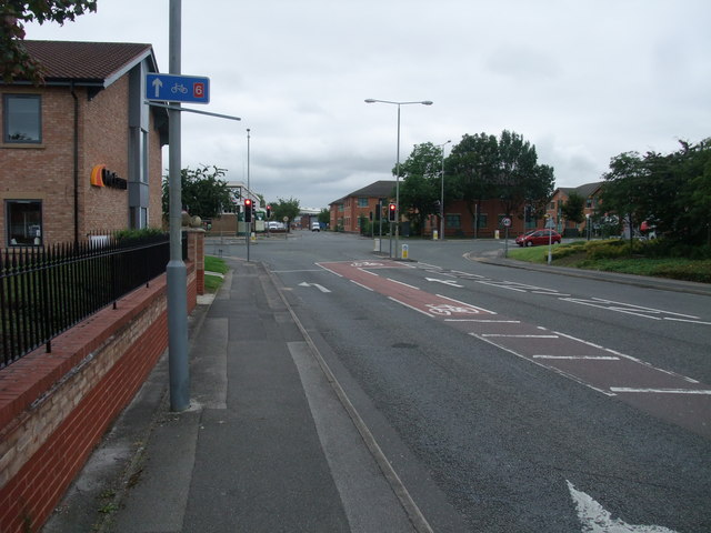 Ransom Road approaching  the A6005 (Nottingham Road)