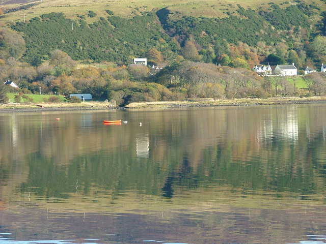 Moored kayak on Uig Bay