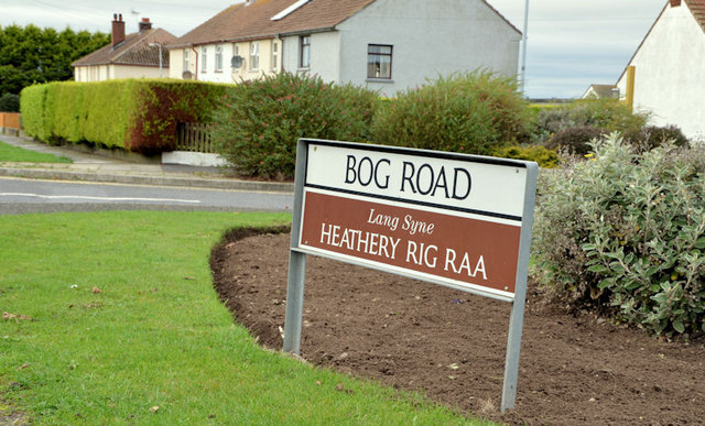 Bog Road sign, Portavogie