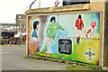 J6659 : George Best mural, Portavogie harbour by Albert Bridge