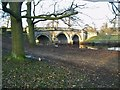 SK2570 : Bridge over River Derwent on road into Chatsworth House by Chris Morgan