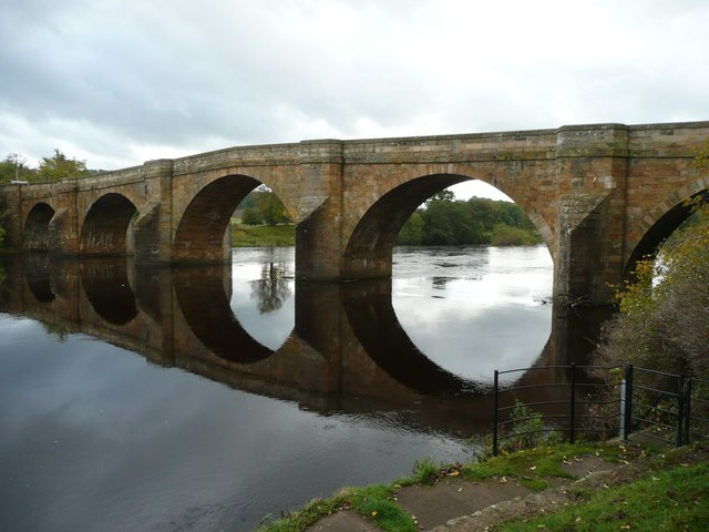 Chollerford Bridge over the River North Tyne