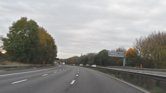 The M6 near Madeley Heath