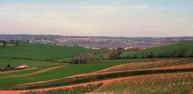 Towards the Exe estuary