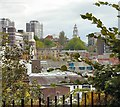 SJ8990 : View over Stockport by Gerald England