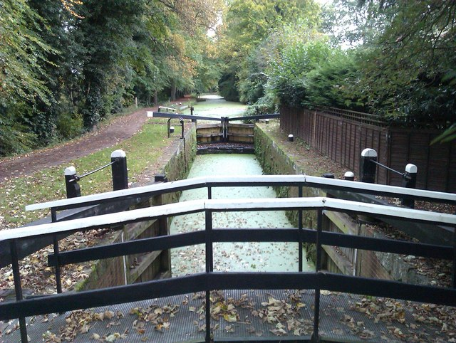 Sheerwater top lock, Basingstoke Canal