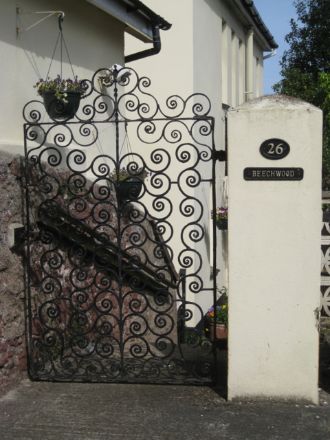 Ornamental iron gate, Higher Brimley