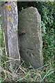 SE1486 : Benchmarked gatepost beside A6108 by Roger Templeman