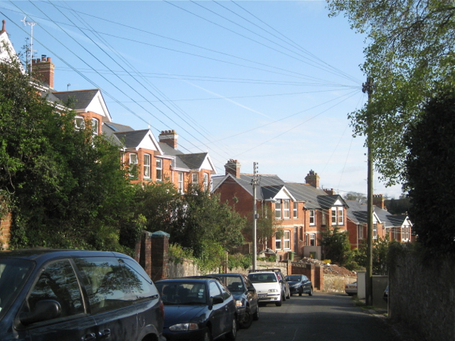 Stepped semi-detached houses, Paradise Road
