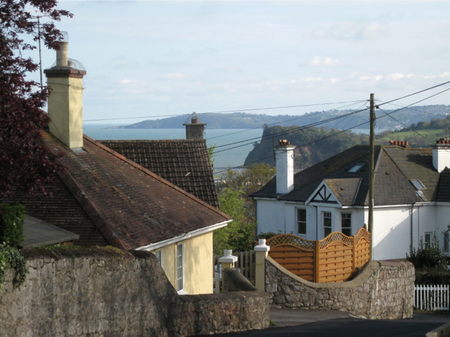 Rooftops and sea view, Ferndale Road