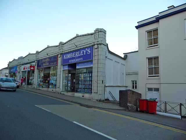 Shop units on Worcester Road