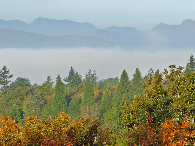 Autumn colours above Windermere