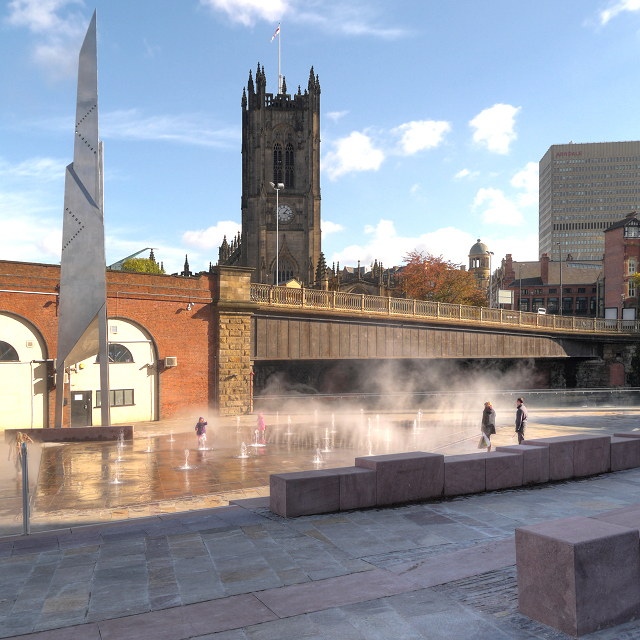 New Fountains in Greengate Square